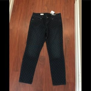 Gap dotted alwaysnskinny jeans 30/10 waist
